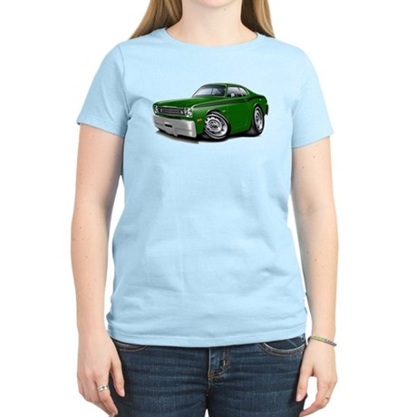 Duster Green-Black Car Women's Light T-Shirt