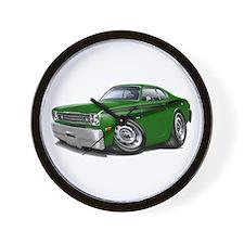 Duster Green-Black Car Wall Clock