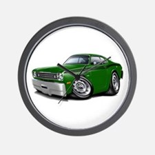 Duster Green-Black Car Wall Clock