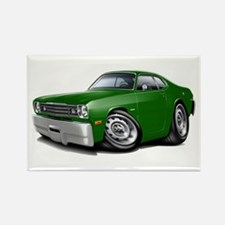 Duster Green Car Rectangle Magnet