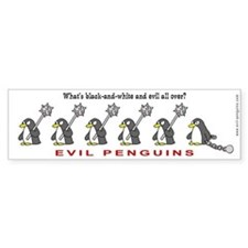 Evil Penguins Bumper Sticker