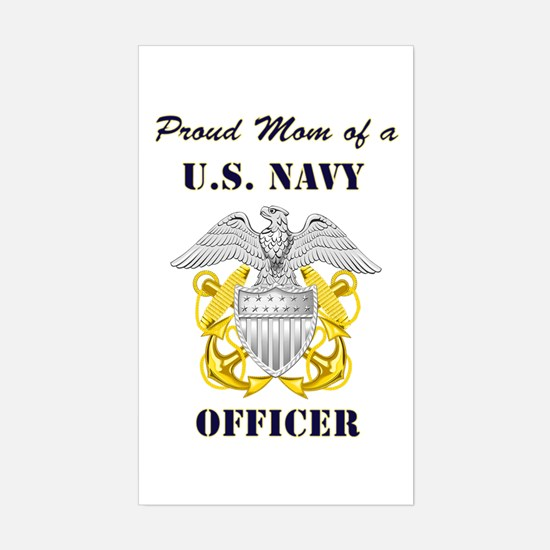 Officer Mom Rectangle Decal