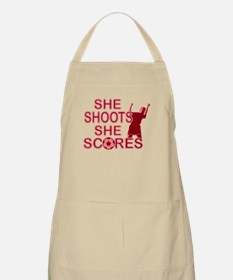 She Shoots ladies soccer Apron