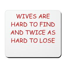 men's divorce joke Mousepad