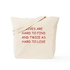 men's divorce joke Tote Bag