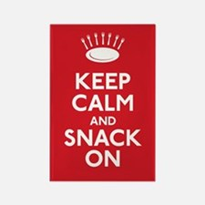 Keep Calm and Snack On Rectangle Magnet