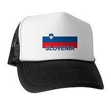 Slovenian Flag (labeled,colors) Trucker Hat