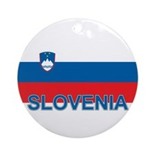 Slovenian Flag (labeled,colors) Ornament (Round)