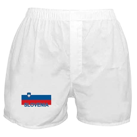 Slovenian Flag (labeled,colors) Boxer Shorts