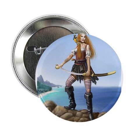 "Pirate Wench 2.25"" Button (10 pack)"