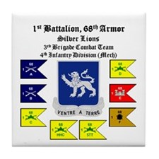 Guidons w/STT Tile Coaster