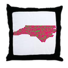 NC Cities Throw Pillow