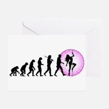 Pole Dancing Greeting Card
