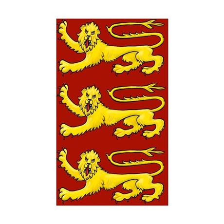 Plantagenet Lions Sticker (Rectangle 50 pk)