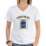 Riverside County Libertarian Women's V-Neck T-Shir