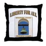 Riverside County Libertarian Throw Pillow