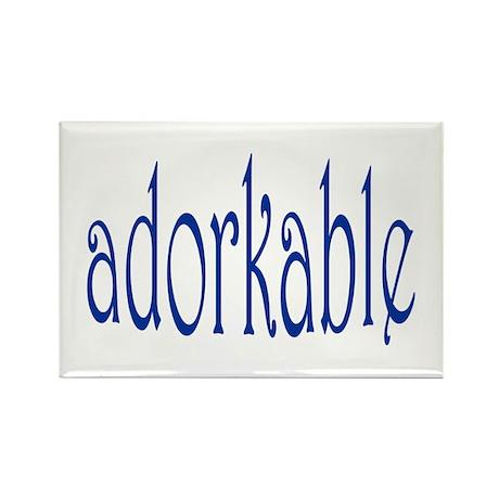 I'm adorkable! Rectangle Magnet