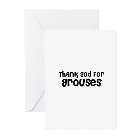 Thank God For Grouses Greeting Cards (Pk of 10