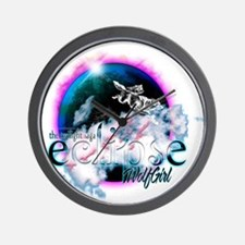 Twilight Eclipse WolfGirl Wall Clock