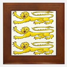 Plantagenet Lions Framed Tile