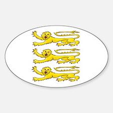 Plantagenet Lions Sticker (Oval)