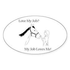 Love My Job Equine Decal