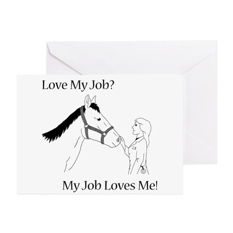 Love My Job Equine Greeting Cards (Pk of 20)