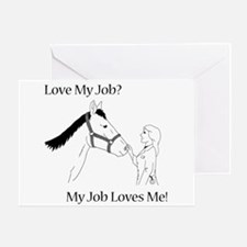 Love My Job Equine Greeting Card