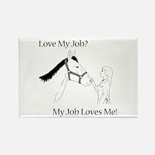 Love My Job Equine Rectangle Magnet