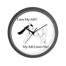 Love My Job Equine Wall Clock