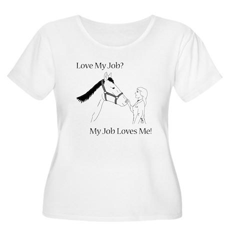 Love My Job Equine Women's Plus Size Scoop Neck T-