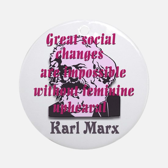 Great Social Changes Ornament (Round)