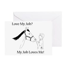 Equine Veterinarian (male) Greeting Card