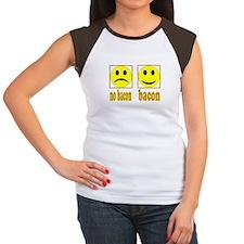 Hoo-Ray For Bacon Women's Cap Sleeve T-Shirt