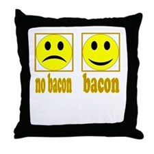 Hoo-Ray For Bacon Throw Pillow