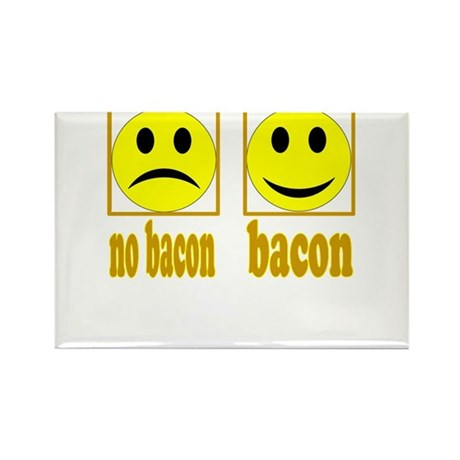 Hoo-Ray For Bacon Rectangle Magnet