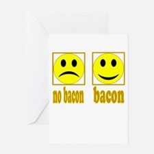 Hoo-Ray For Bacon Greeting Card