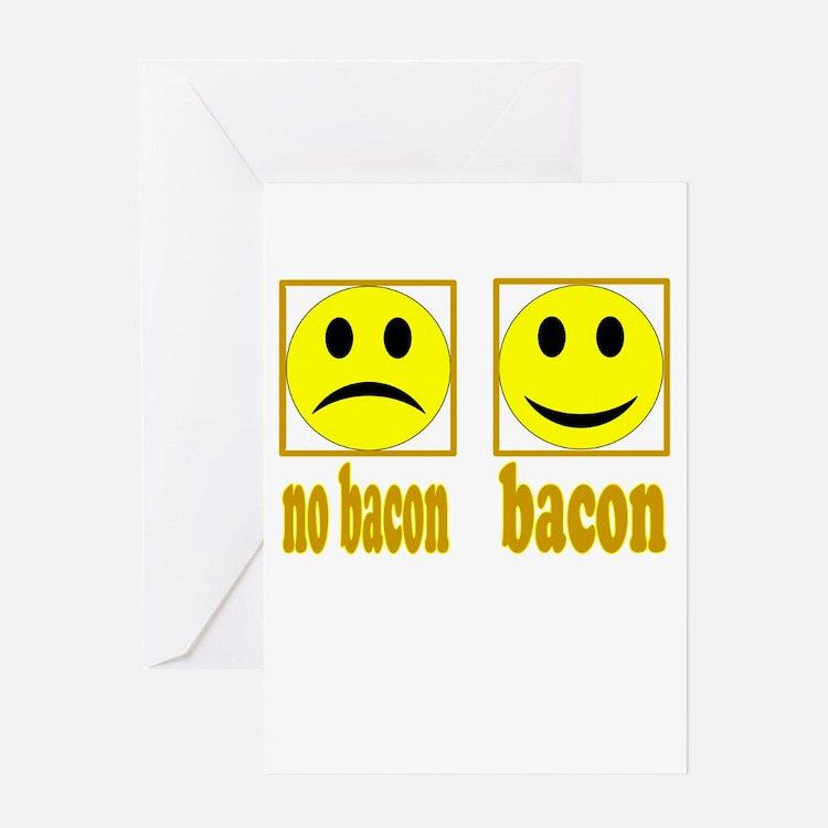 Hoo-Ray For Bacon Greeting Card