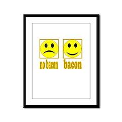 Hoo-Ray For Bacon Framed Panel Print