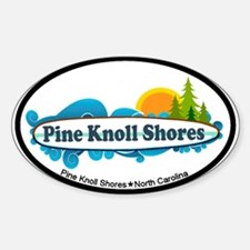 Pine Knoll Shores NC - Surf Design Decal