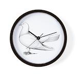 Flying Oriental Roller Pigeon Wall Clock