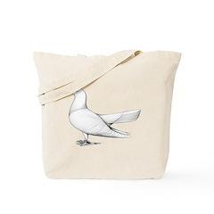 Flying Oriental Roller Pigeon Tote Bag