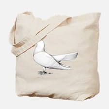 Flying Oriental Roller Pigeon Tote Bag