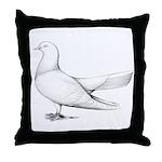 Flying Oriental Roller Pigeon Throw Pillow