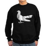 Flying Oriental Roller Pigeon Sweatshirt (dark)