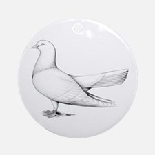 Flying Oriental Roller Pigeon Ornament (Round)