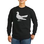 Flying Oriental Roller Pigeon Long Sleeve Dark T-S