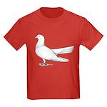 Flying Oriental Roller Pigeon Kids Dark T-Shirt