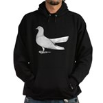 Flying Oriental Roller Pigeon Hoodie (dark)