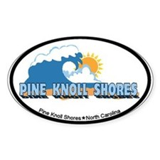 Pine Knoll Shores NC - Waves Design Decal